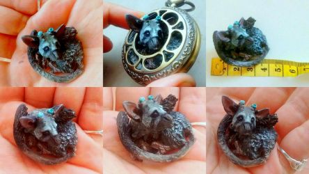 Trico: the Last Guardian...in a Pocket watch by hodryronja