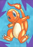 Charmander Sketch Card by ibroussardart