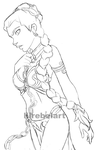 Slave Leia | Work In Progress by lilrebelart