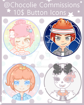2nd Batch of Button icons by Chocolie