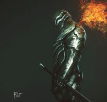 FlameKnight by benedickbana