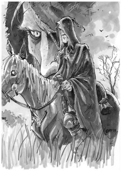 Geralt lone rider by OFFO