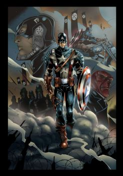 Captain America By John Timms By Theinkpages By Kr by Kris-Chua
