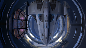 SWTOR Imperial Agent's Ship Top View by skylinegtr01