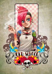 Tattoo Girls- Old School by HenarTorinos
