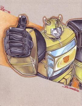 Bumblebee pin-up by Robot1979