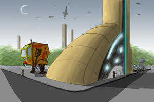 Some sci-fi -ish building by HenryBiscuitfist