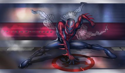 spidey 2099 by huzzain