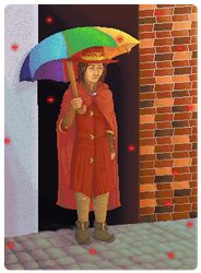 the only one with an umbrella by thebookhobbit