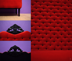 Red Sofa Details by Katja-dollab