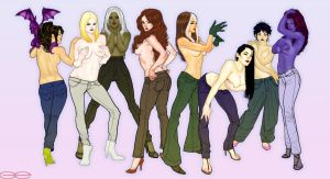 X-Babes in Jeans by godfreyescota