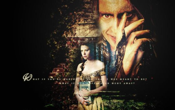 OUaT Rumpelstiltskin x Belle Wallpaper by HeartlessMia