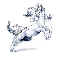 Leaping centaur by Hbruton
