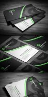 Sleek Corporate Business Card by calwincalwin