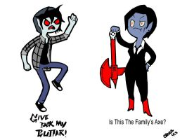 Marshall Lee And His Mother Coloured by CrossedRunner