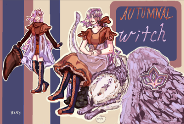 Open Adopt Auction: Autumnal Witch by Rnxr