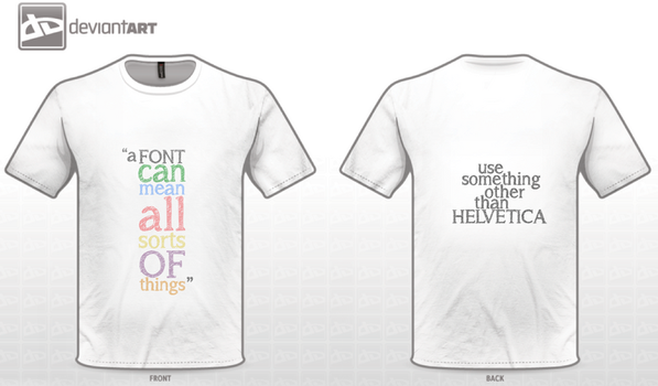 Fonts: T-shirt Design by HugoLynch