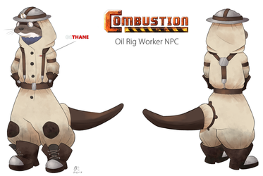 Oil Rig Worker by BlackSpotDesign