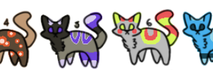 5 Point Cat Adopts (CLOSED) by NightyStorm