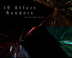 10 c4d effect renders by M-Mikkelsen