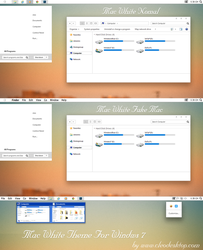 Mac White Theme for win 7 by Cleodesktop