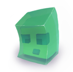 Realistic-ish Minecraft Slime (Moving to Krita) by Cocololzzz