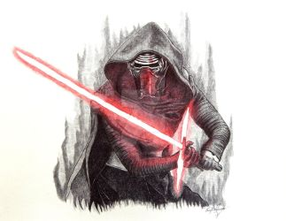 KYLO REN STAR WARS by OMKDrawings