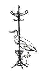 Heron and Hat Rack by mlauritano