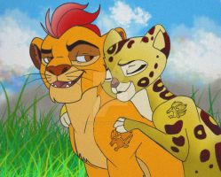 Kion and Fuli by YoungLadyArt