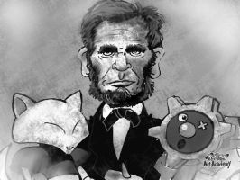 Abraham Lincoln with his Abra and Klinklang (1865)