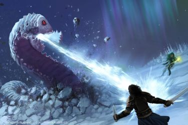 Frost Worm Hunt by Akeiron