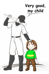 Chara and the batter by DayseRosi