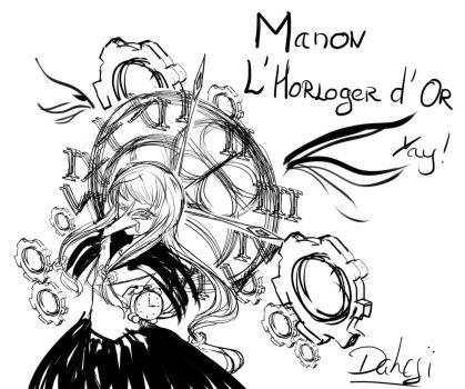 Manon - Golden Watch Maker Doodle by Daheji