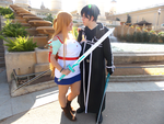 Warmth of Heart - Asuna and Kirito by Nullien