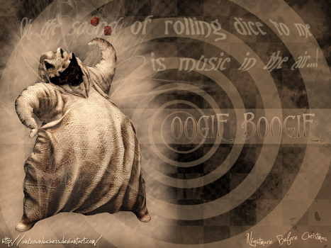 Oogie Boogie Wallpaper by UnknownDuchess