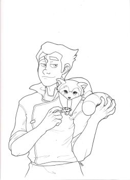 Bolin and Pabu lineart by devildoll80s
