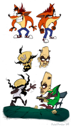 Bandicoots and Mad Doctors by Mickeymonster
