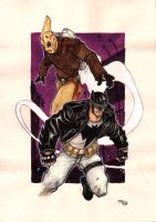Rockabilly Batman and The Rocketeer by DenisM79
