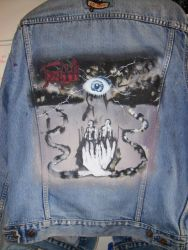 symbolic painted jacket by PamMorrison