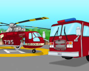 Helipad at the Firehouse 79 by Skyblue2005