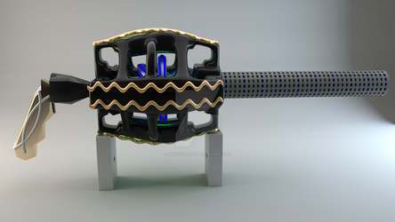 Ray Gun Project Render: Side view by MNSVocaloid