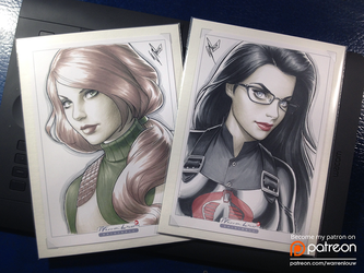 Copic Scarlett and Baroness by WarrenLouw