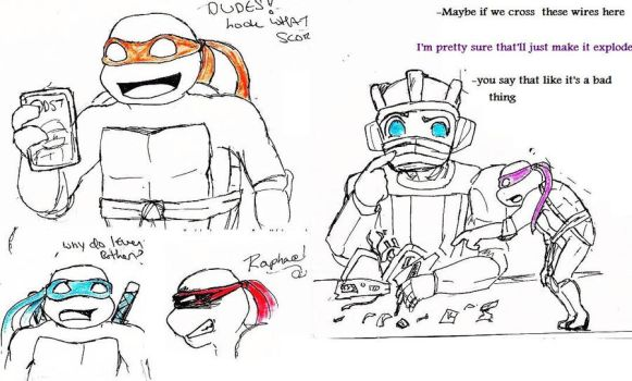 turtles and transformers?? by Revolver-Waffle