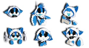 [QDV] VoidShark Telegram Stickers by Void-Shark