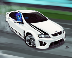 Commission: Blue Blitz's HSV GTS by sevoohypred