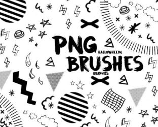 18 Pcs. Png Brushes by sugajhussi