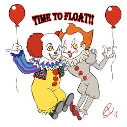 Come with us, you'll float, too!  by XxLevanaxX