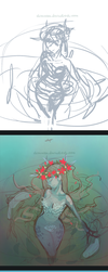 Swamp girl. Drawing process by ShionMion