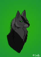 Wolf head by saffulizardi