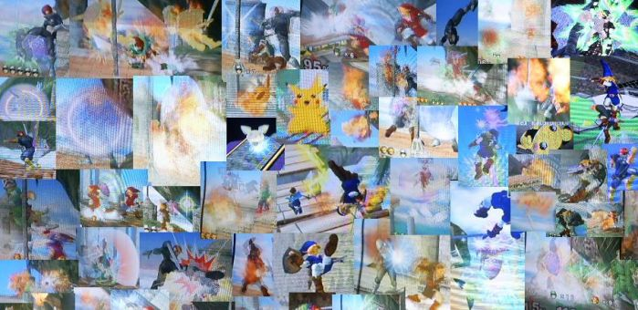 Super Smash Melee Collage by flameofwater